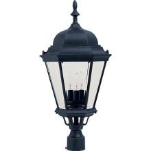Maxim 1007BK - Westlake Cast 3-Light Outdoor Pole/Post Lantern