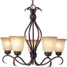 Maxim 10125WSOI - Basix 5-Light Chandelier