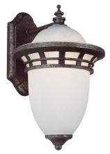 Trans Globe PL-5110 AP - One Light Frosted Glass Antique Pewter Wall Lantern