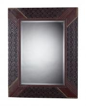 Sterling Industries 116-011 - Faux Leather Framed Mirror Rectangle