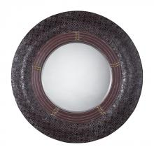 Sterling Industries 116-012 - FUAX LEATHER FRAMED MIRROR ROUND