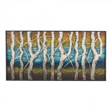 Sterling Industries 129-1109 - Queen Lake-White Birch At Dawn Metal Wall D