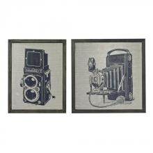 Sterling Industries 26-8662/S2 - Set Of 2 Antique Camera Prints On Glass