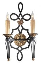 Minka Metropolitan N2100-20 - French Black W/gold Leaf Highlights Wall Light