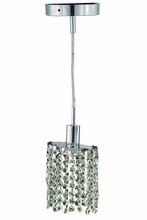 Elegant 1281D-R-E-CL/RC - 1281 Mini Collection Pendant D:4.5in H:4.5in Lt:1 Chrome Finish (Royal Cut Crystals)