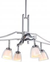 DVI DVP9026-CH-OP - Six Light Kupfer With Diamond Logo Shade Down Mini Pendant