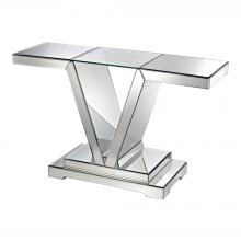 Dimond 114174 - Mirrored Console Table With Clear Glass Top