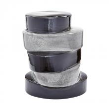 Dimond 857105 - Stacked Ovals Side Table In Black And Grey