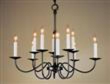 Hubbardton Forge - Canada 102100-SKT-10 - Simple Lines 10 Arm Chandelier