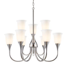 ELK Lighting 10019/6+3 - Nine Light Polished Chrome Up Chandelier
