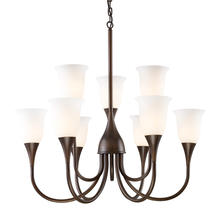 ELK Lighting 10029/6+3 - Nine Light Aged Bronze Up Chandelier